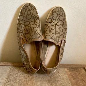 Brown Calvin Klein Flats